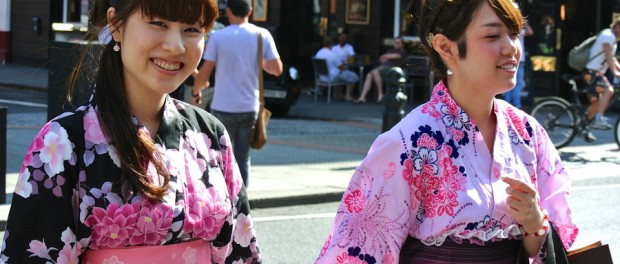 two women in kimonos