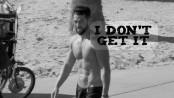 shirtless guy on beach