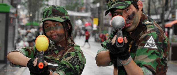 Korean Sinchon watergun warriors