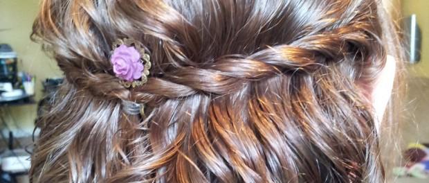 wavy hair with a braid