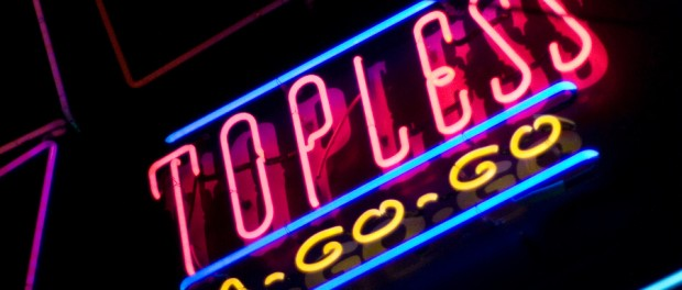 topless neon sign